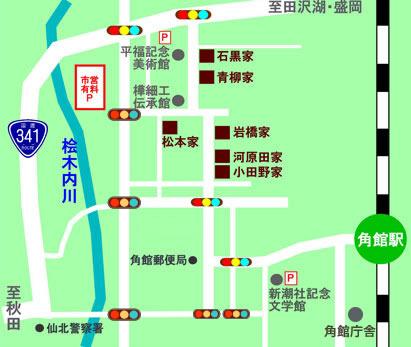 武家屋敷周辺地図
